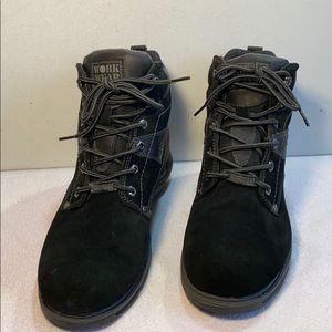 Wrangler Work Wear Black Leather Boots Sz 10 W